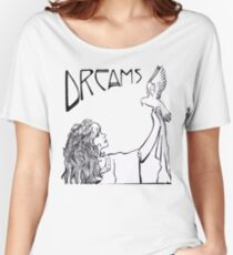 Stevie Nicks- Art Nouveau Style- B&W Women's Relaxed Fit T-Shirt