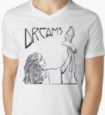 Stevie Nicks- Art Nouveau Style- B&W Men's V-Neck T-Shirt