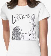 Stevie Nicks- Art Nouveau Style- B&W Women's Fitted T-Shirt