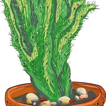 Cactus in pot by Kuhtina