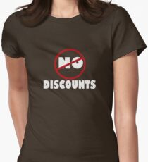 NO DISCOUNT Womens Fitted T-Shirt
