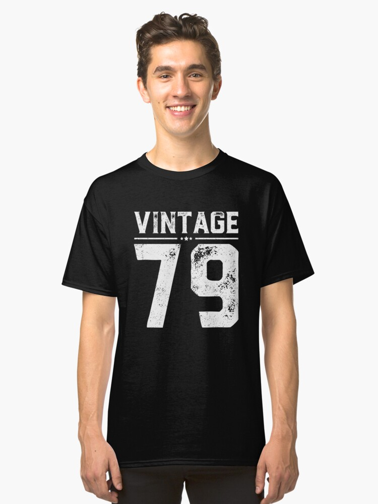 Vintage 79 Shirt 39 Years Old 39th Birthday Gift Shirt Old Classic T-Shirt Front