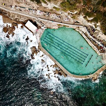 An Aerial view of Bronte rock ocean pool in Sydney Australia  by The-Drone-Man