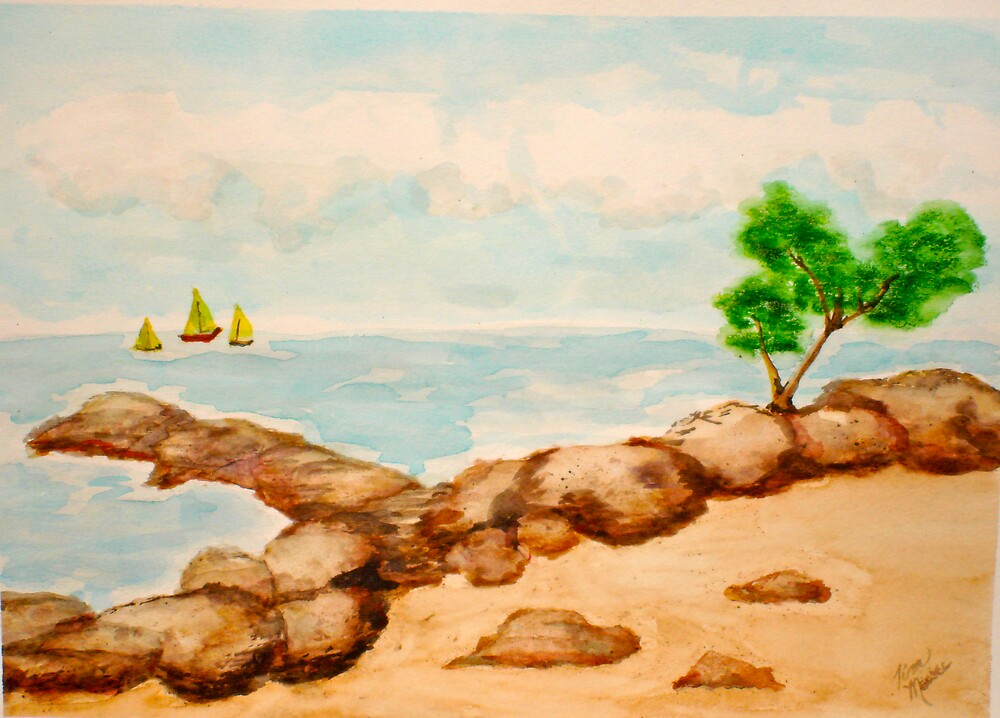 Oceanside Tree by Tina Messec