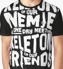 Skeletons of our Enemies - Black Overflow Graphic T-Shirt