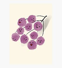 Bunch of happy grapes Photographic Print