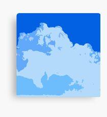 Blue Cotton Candy  Canvas Print