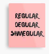 regular degular shmegular Metal Print