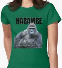 Harambe Gorilla Women's Fitted T-Shirt