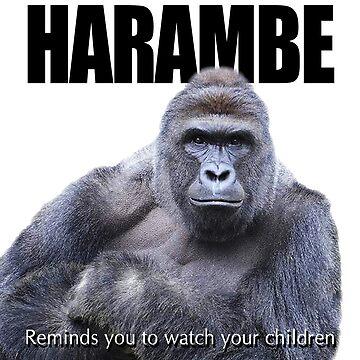 Harambe Gorilla by ayemagine