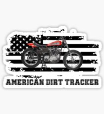 American Dirt Tracker Flat Track Racer Dirt Track Racer Sticker