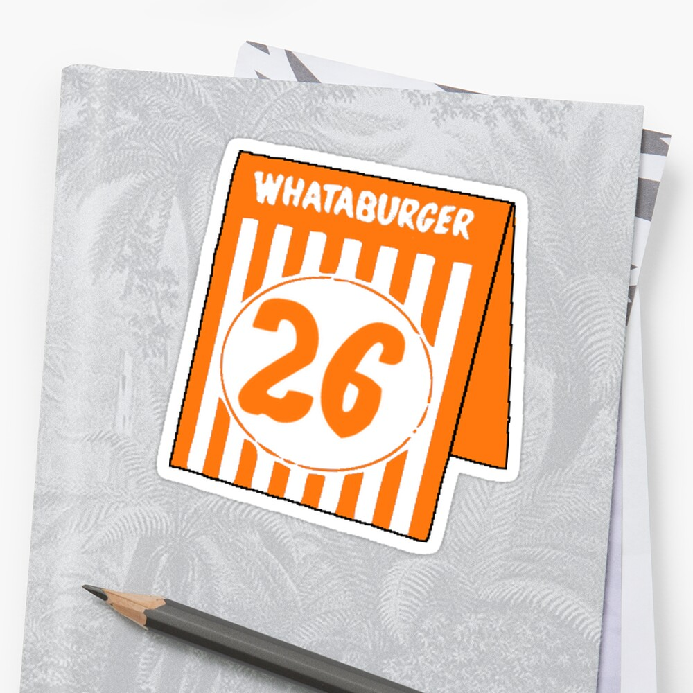 whataburger table tent number 26 stickers by notional redbubble