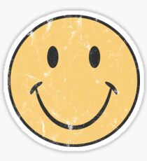 Gelbes Smiley-Gesicht | Retro Smiley-Gesicht Sticker