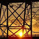 Huey P. Long Bridge (Sunset) by Wanda Raines