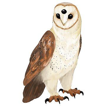 Three-Eyed Owl by art-shy