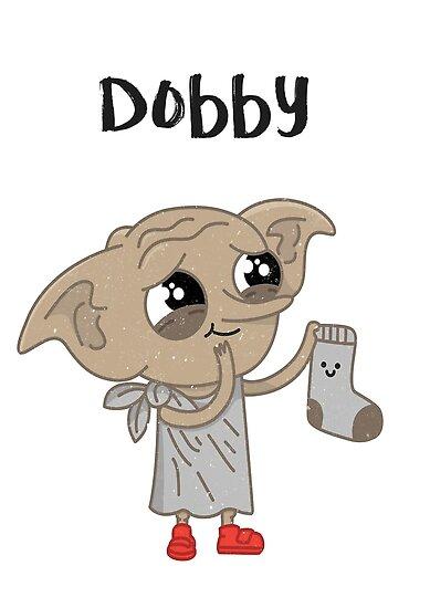 Póster «Dobby dibujo de impresión» de mickey510 | Redbubble