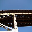 The Train Bridge Above the Huey P. Long Bridge by Wanda Raines