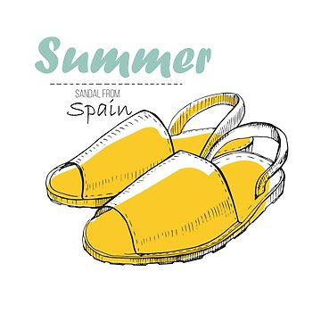 Drawing of summer sandal from Spain by mnimpres