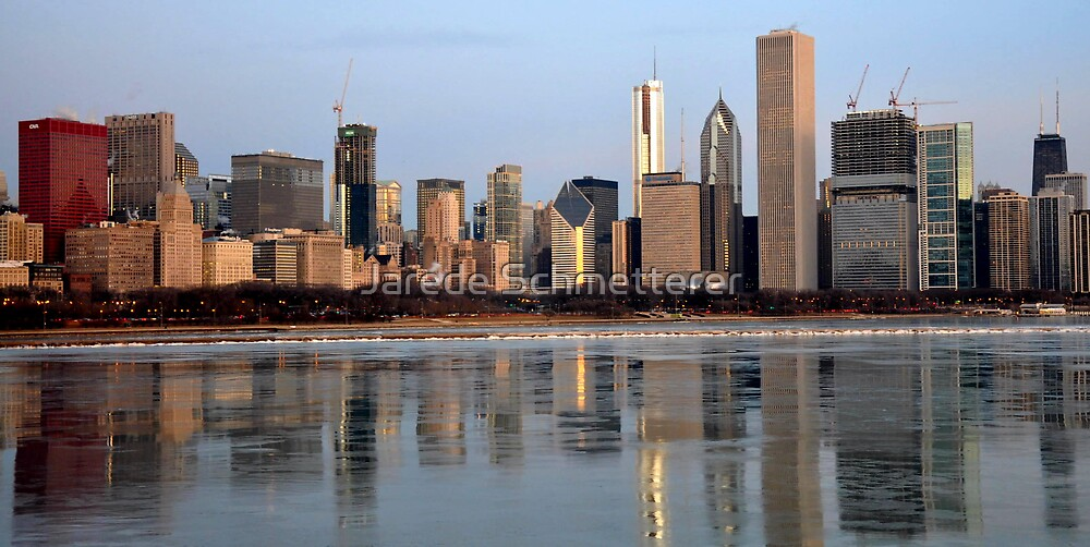 Sun Rise On Chicago by Jarede Schmetterer