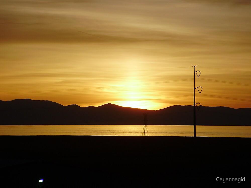 Salt Lake Sunset by Cayannagirl