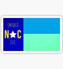 Nautical NC flag     (Emerald Isle, NC) Sticker
