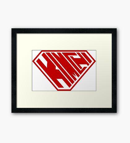 Kimchi SuperEmpowered (Red) Framed Art Print