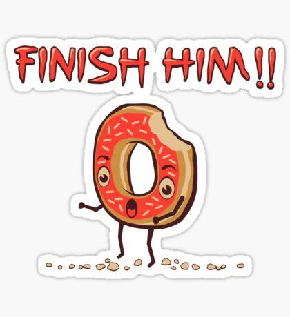 Finish Him! Sticker