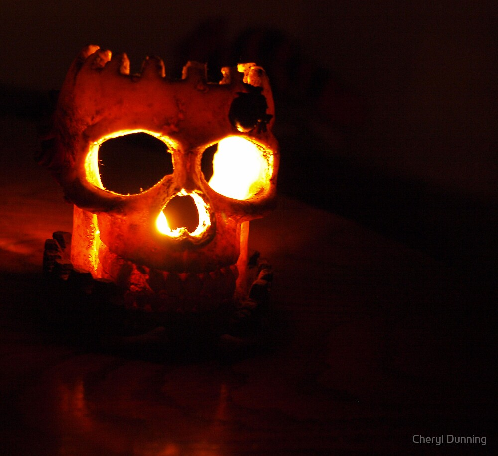 skeletal fire by Cheryl Dunning