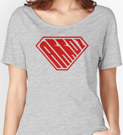 Arroz SuperEmpowered (Red) Relaxed Fit T-Shirt