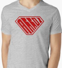 Arroz SuperEmpowered (Red) Men's V-Neck T-Shirt