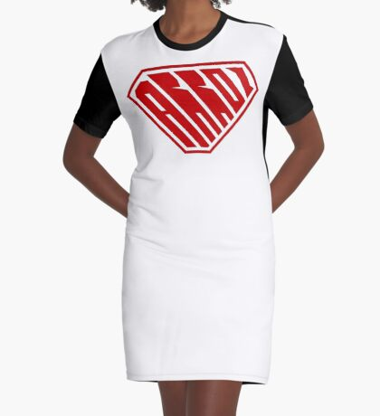 Arroz SuperEmpowered (Red) Graphic T-Shirt Dress