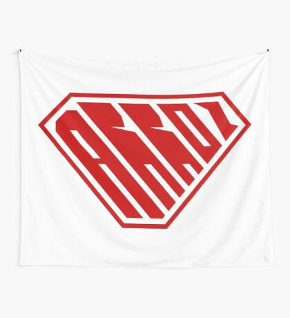 Arroz SuperEmpowered (Red) Wall Tapestry