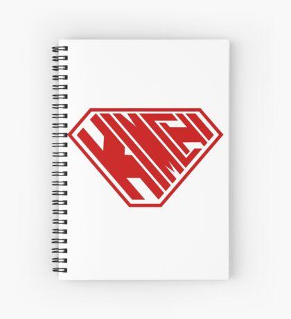 Kimchi SuperEmpowered (Red) Spiral Notebook
