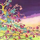 Winter Berries 2 (acrylic on canvas) by Lynne Henderson