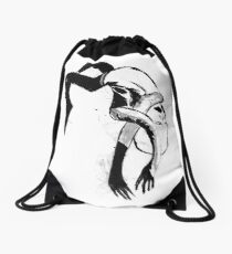 Falling Monster Drawstring Bag