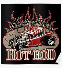 Cartoon retro hot rod Poster