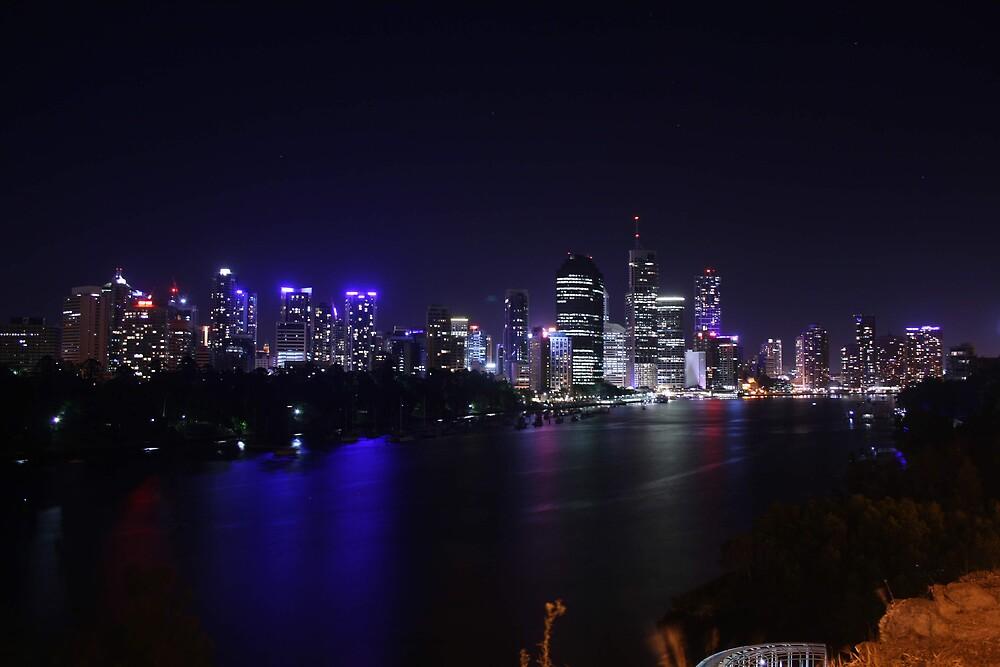 The Brisbane Skyline by Vaughan Whitworth