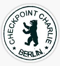 CHECKPOINT CHARLIE BERLIN PASSPORT STAMP Sticker