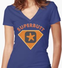 Superbutt - Bet you wish you had one! Women's Fitted V-Neck T-Shirt