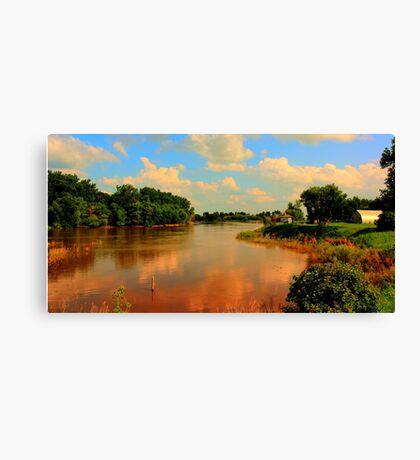 Assiniboine River...HDR Canvas Print