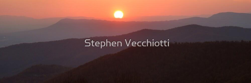 Blue Ridge Mountain Sunset by Stephen Vecchiotti