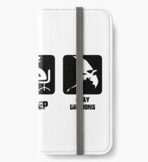 Eat, Sleep, Slay Dragons iPhone Wallet/Case/Skin