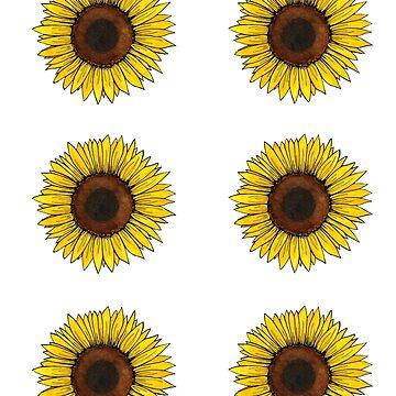 Sonnenblumenaufkleberblatt von skinnyginny