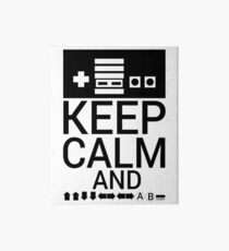 KEEP CALM AND GAME ON Art Board