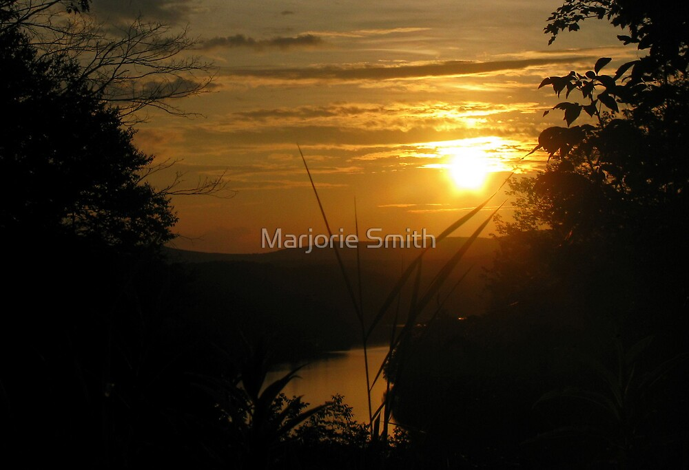 Sunset On Great Garfield by Marjorie Smith