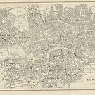 London old map 19th century by PineLemon