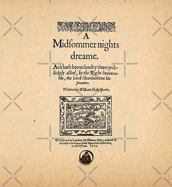 Shakespeare's A Midsummer Night's Dream Front Piece by Incognita Enterprises