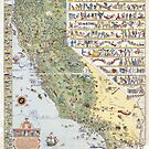 OLD MAP OF callifornia state by PineLemon