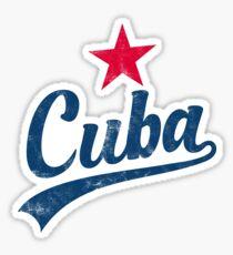 CUBA VINTAGE HANDWRITTEN WITH RED STAR Sticker