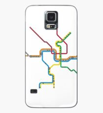 Washington DC Metro Map Case/Skin for Samsung Galaxy